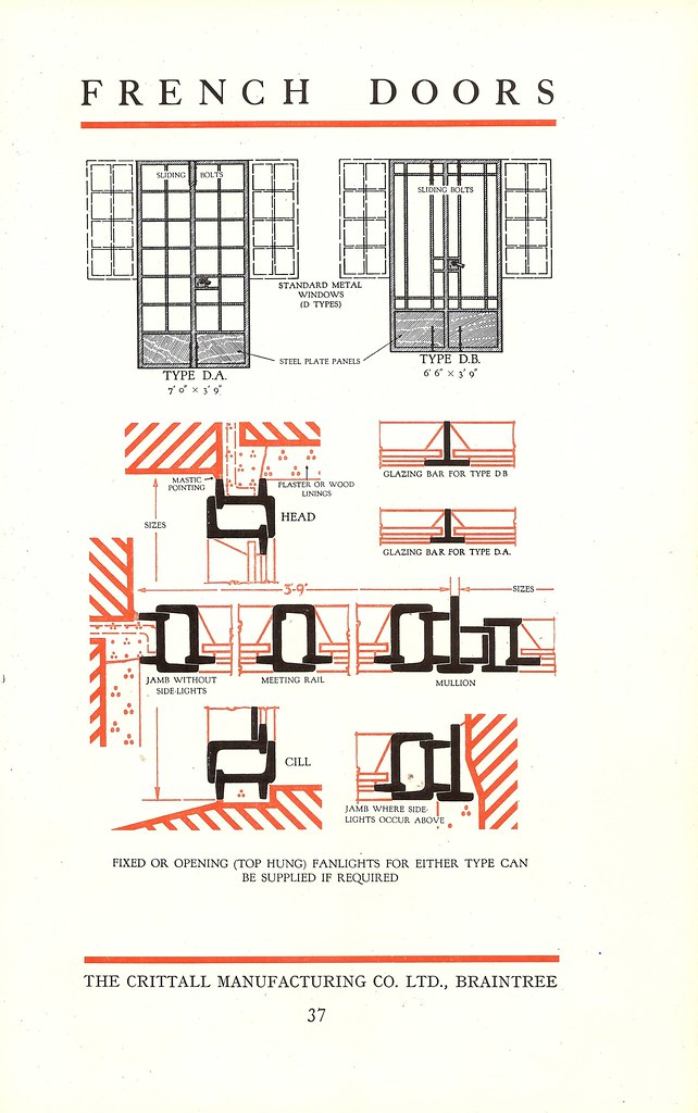 French Doors Page From The Crittall Windows Catalogue 1