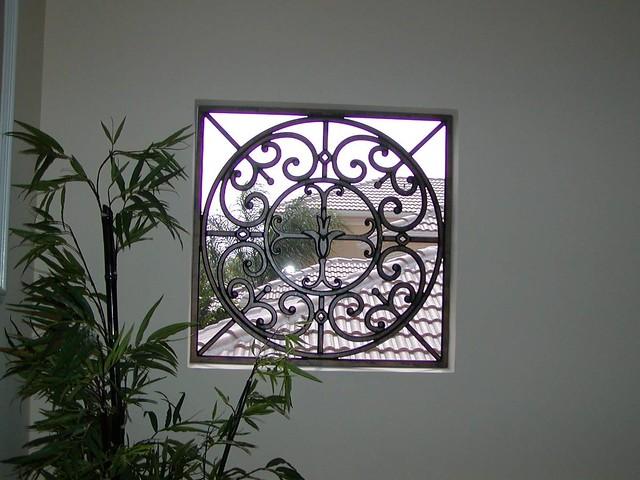 Faux Wrought Iron Window Insert The Decorative Iron