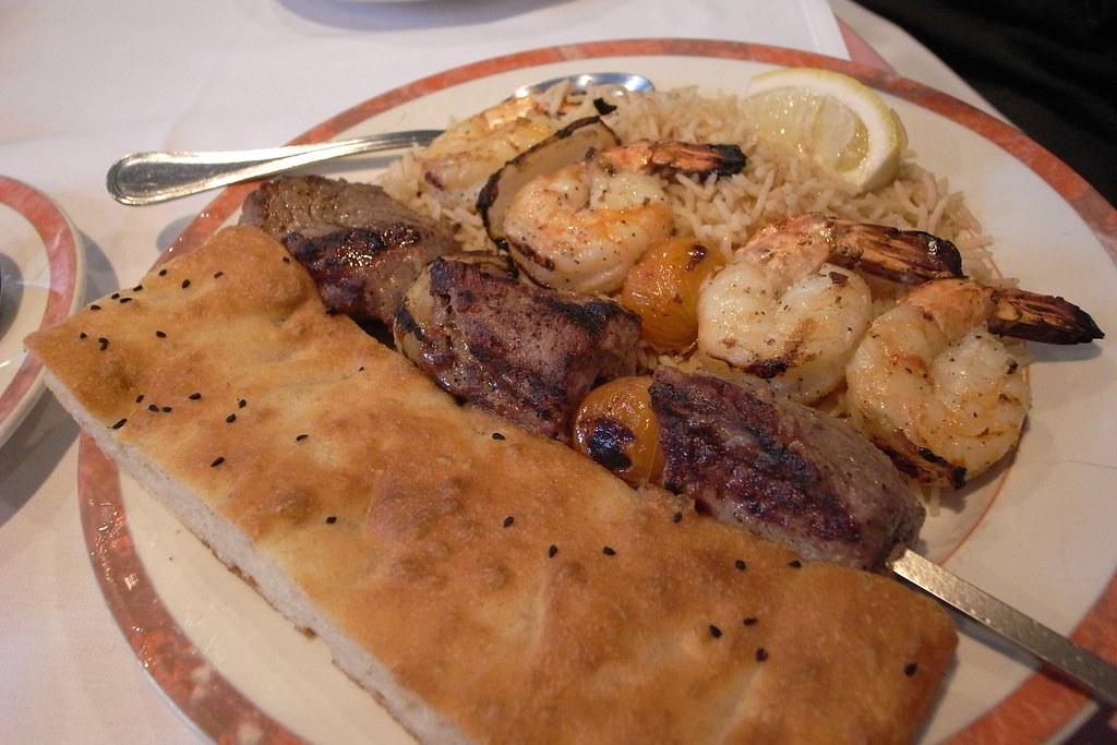 Kabul afghan cuisine kabul 39 s combination kabab for Afghanistan cuisine food