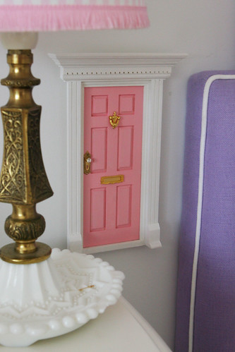 Fairy door in preparation of the tooth fairy visiting for The little fairy door company