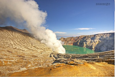 Ijen..from middle of crater... | by shahreen | amri