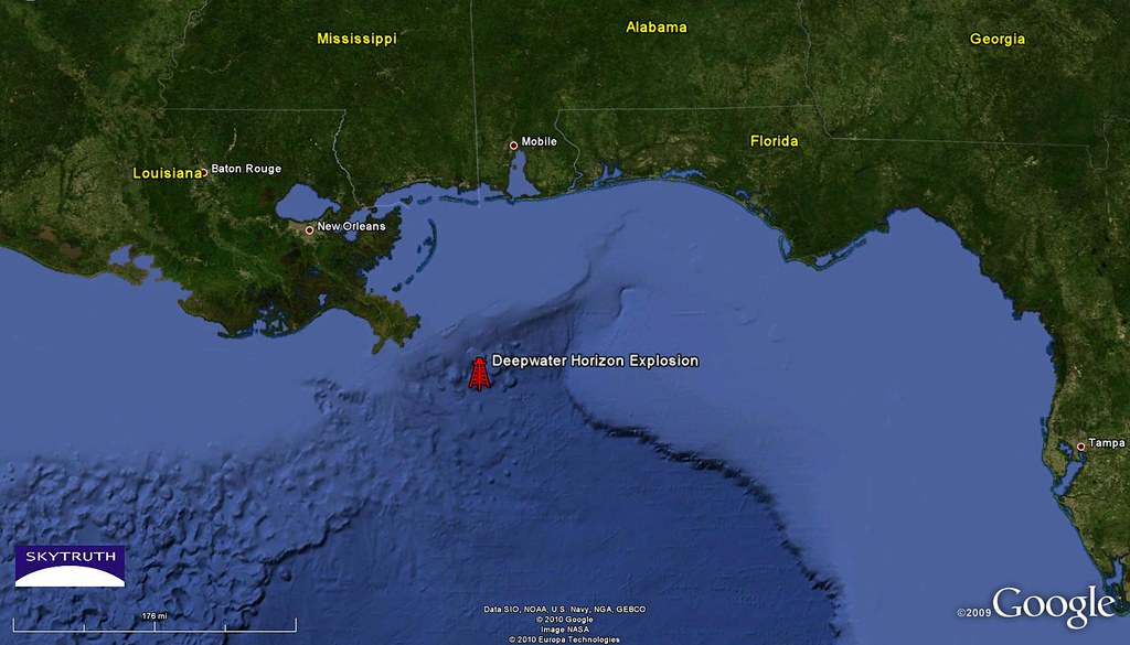 Deepwater Horizon Blowout Gulf of Mexico Location Flickr