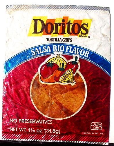 dug: late 1980s Doritos Salsa Rio bag | real hard to get a ... 3d Doritos