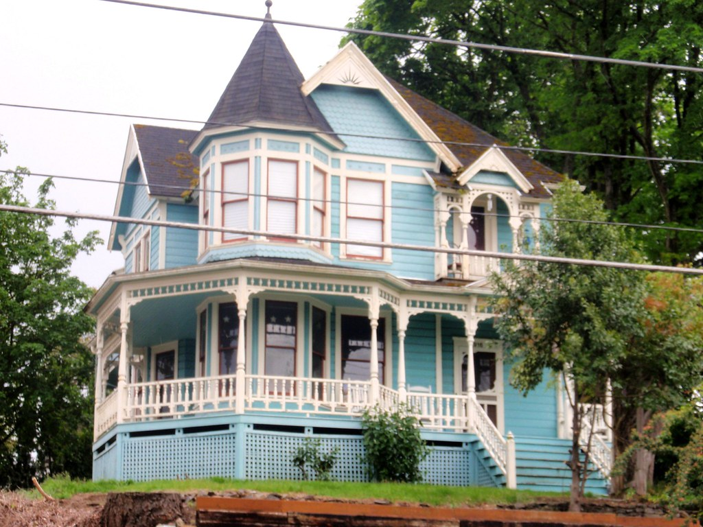 Blue Queen Anne Victorian Charles Huntley Historic House 1