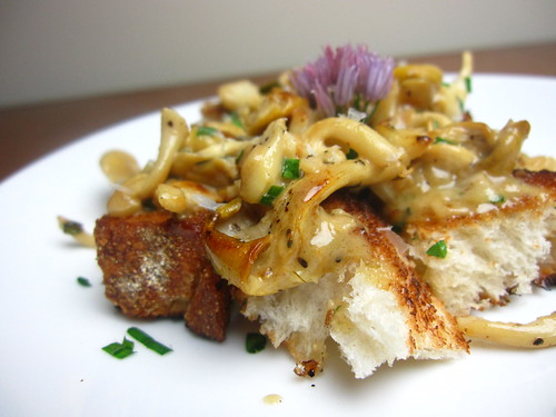 Wild Mushrooms with Vermouth, Cream and Chives on Toast | by SeppySills
