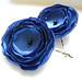 Royal Blue Satin Flower Hair Pins