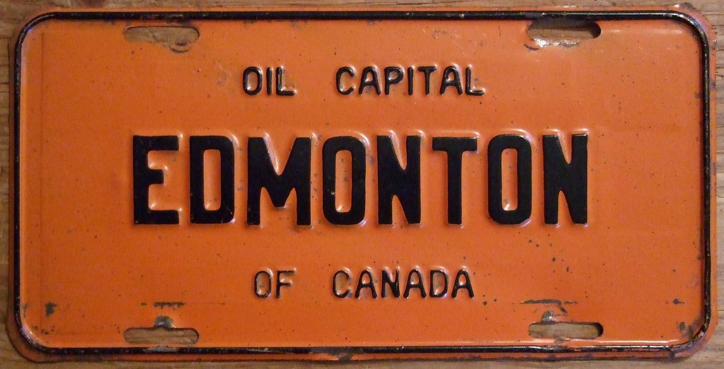 License Plate Camera >> ALBERTA 1954 ---FRONT LICENSE PLATE, EDMONTON | This plate i… | Flickr