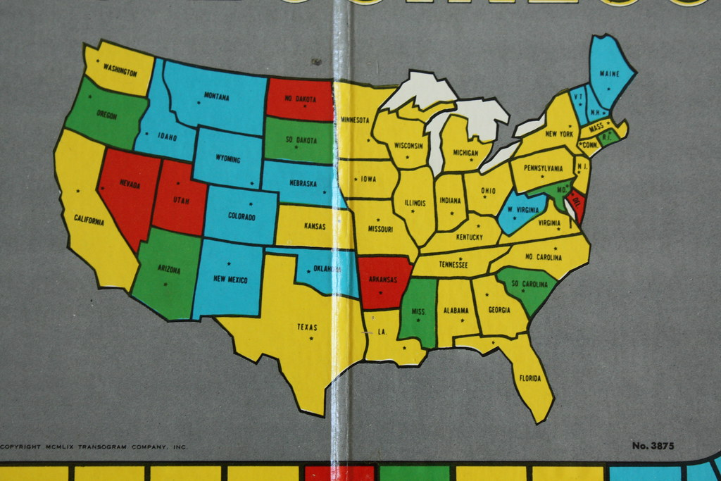American Map Company Inc.Unitd States Of America Map Detail From Big Business Game Flickr