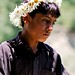 Flower crown seller boy in Nathiagali