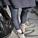 jeggings+denim leggings+gray ankle boots+ferragamo bag+rosegold