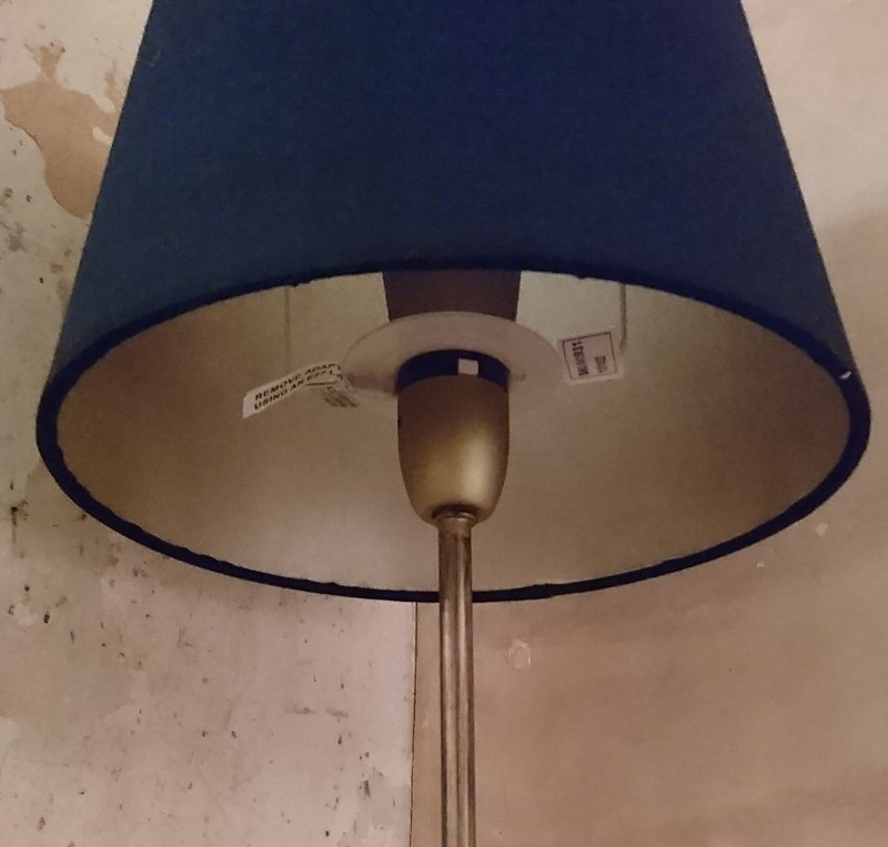 DIY Gold-lined lampshade