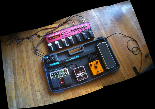 electric guitar effects pedal board i try to keep it simpl flickr. Black Bedroom Furniture Sets. Home Design Ideas