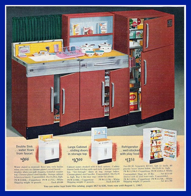 1966 Sears Christmas Catalog, Toy Kitchen