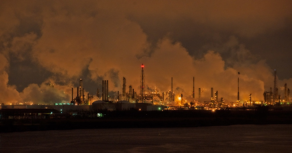 Industrial Landscape at Night | Taken on the Houston Ship ...