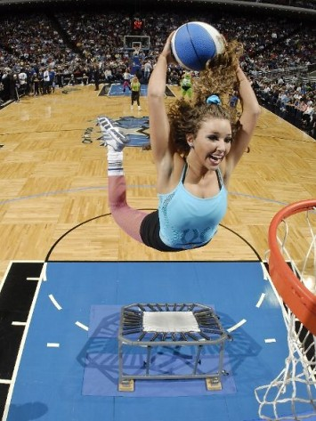 dunking cheerleader | by basketbawful