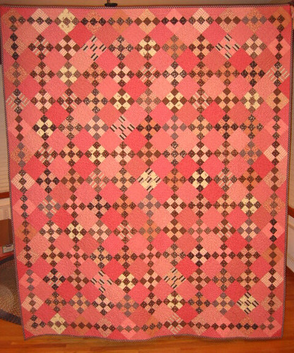 Reproduction 1800s Pink Amp Brown Quot Charleston Quot Quilt Flickr