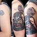 Darth Vader and Deathstar tattoo (design Ralph McQuarrie®)
