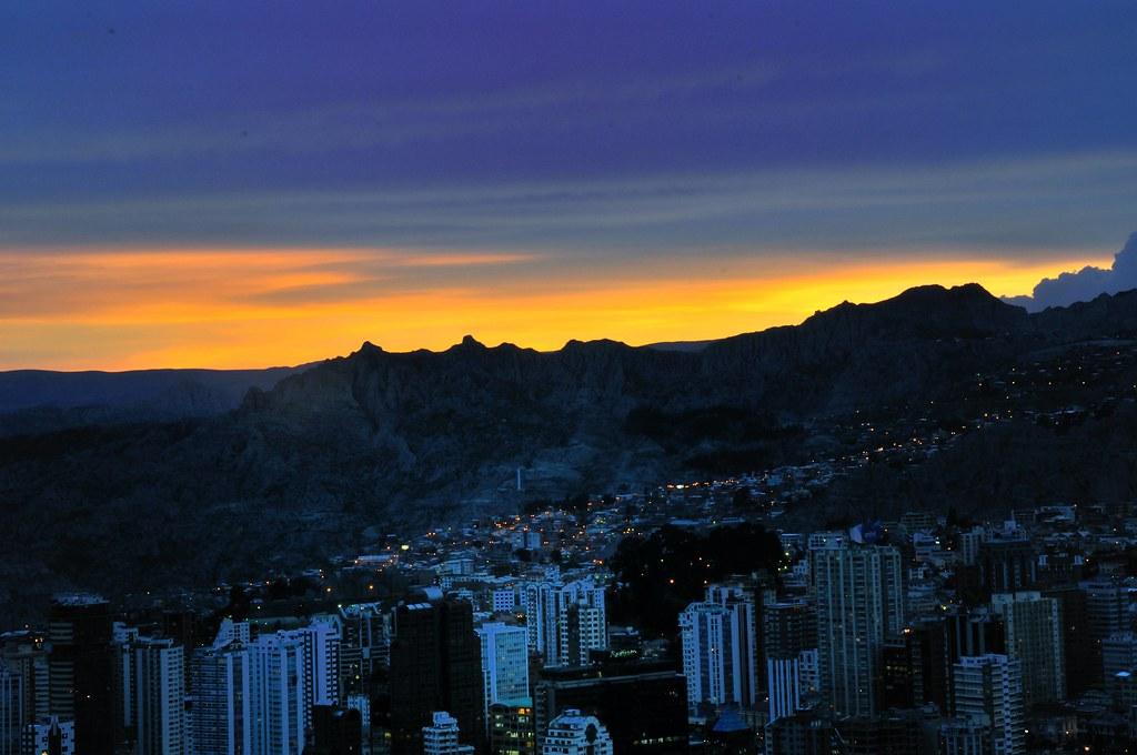 Bolivia La Paz Puesta De Sol Desde El Mirador De Killi Ki