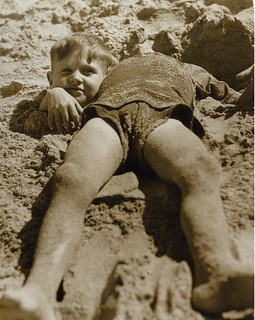Billy and Graham Green from the Salvation Army Camp practise a little deceit, Collaroy Beach, ca. 1940 / photographer unknown | by State Library of New South Wales collection