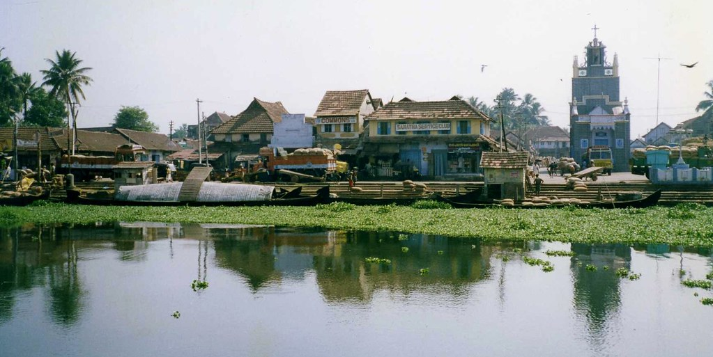 India Kerala Changanacherry Town The Waterfront Area