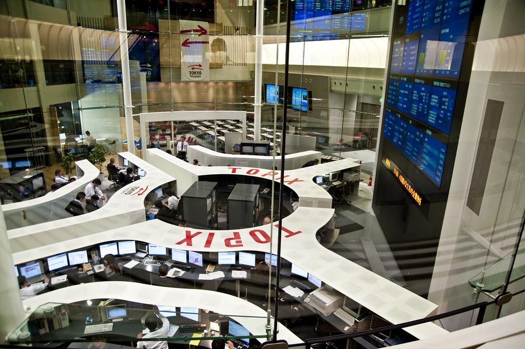 Tokyo Stock Exchange Floor The Tokyo Stock Exchange