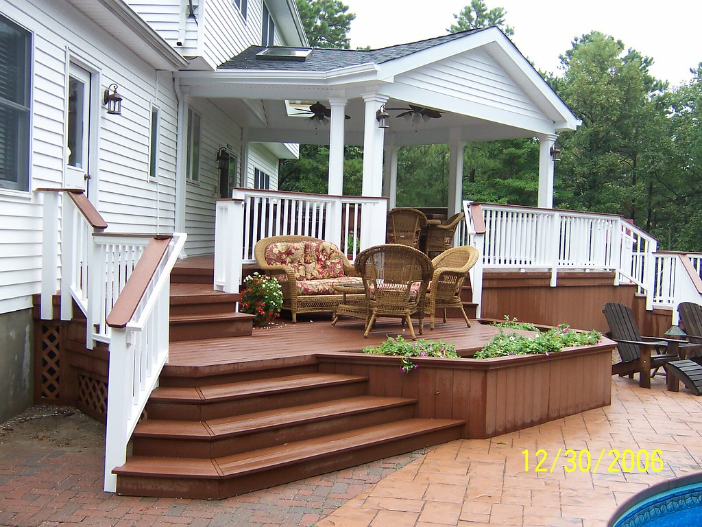 Deck 7 700 sq ft multi level deck with roof structure - Deck ideas for home ...