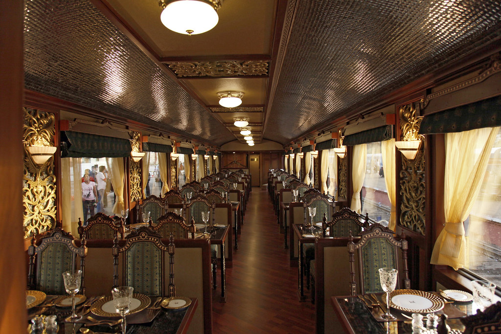 maharajas 39 express luxury train india restaurant flickr. Black Bedroom Furniture Sets. Home Design Ideas