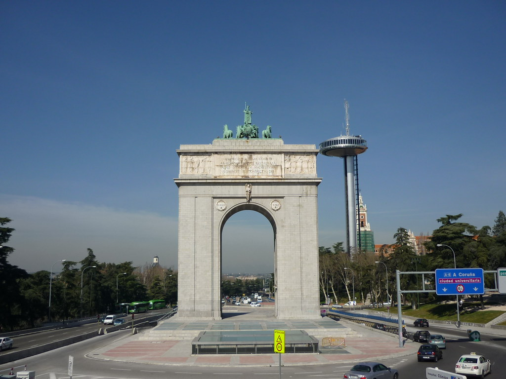 Madrid Moncloa Arco Del Triunfo Alejandro Flickr