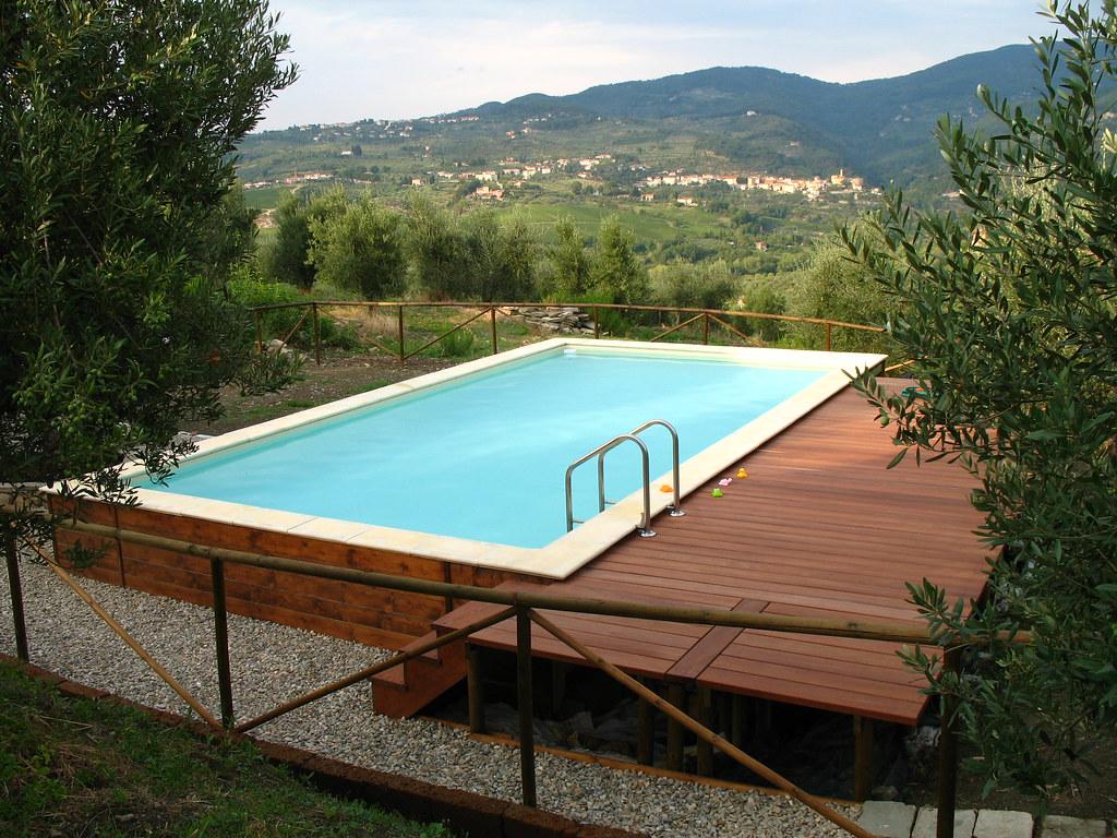 Dolcevita soppalco legno 6 piscina dolcevita gold for Piscina fuori terra con soppalco