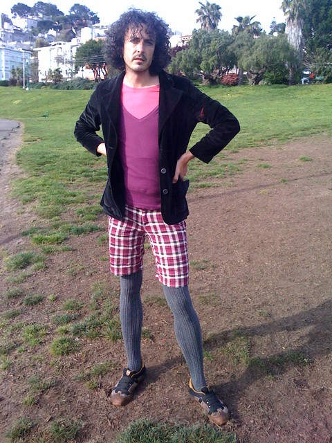 sf streetfashion dolores park genderqueer bioboy in t