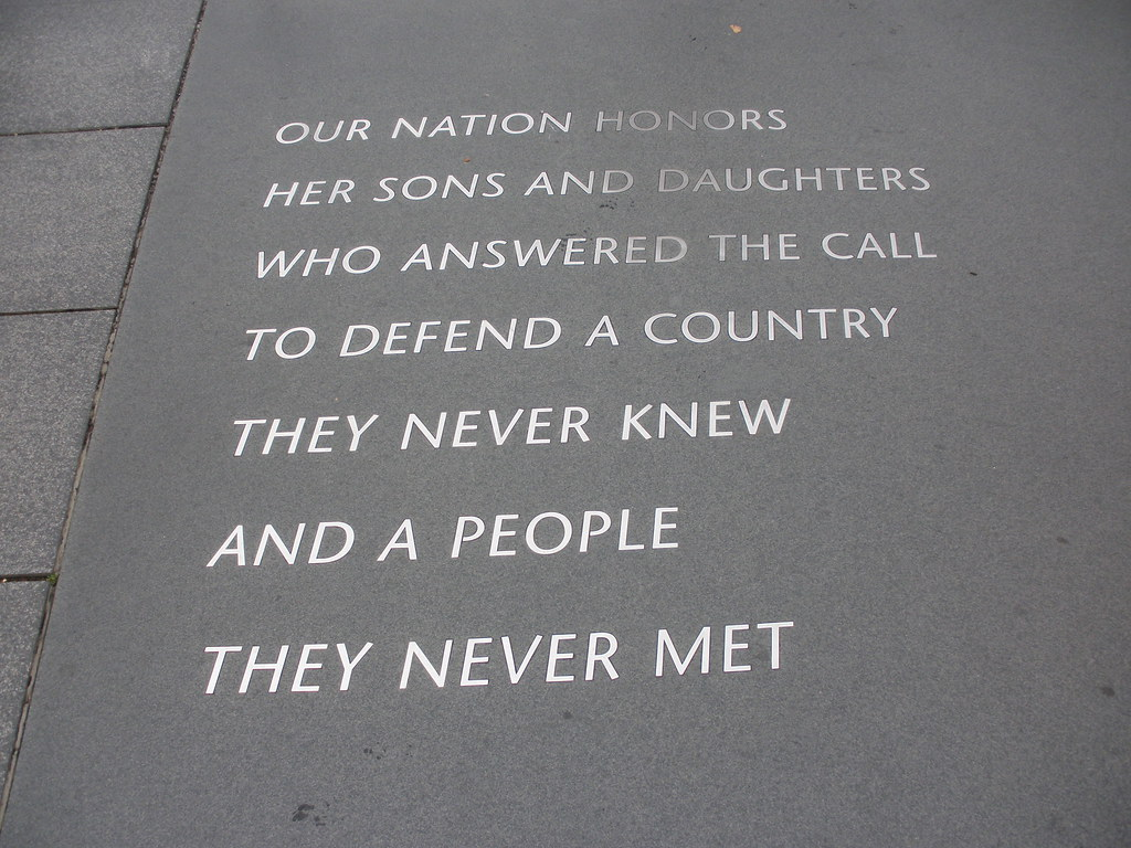 Quote At The Korean War Memorial