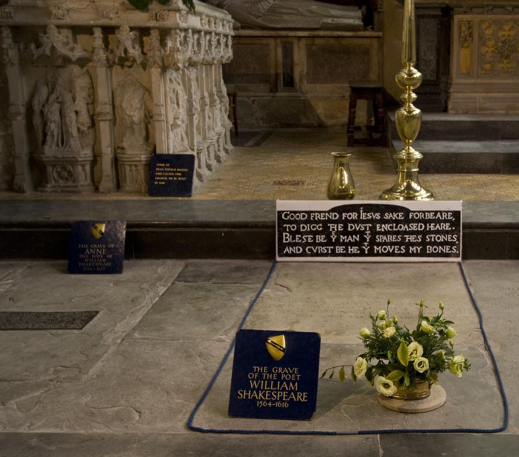 william shakespeares grave william shakespeare 1564