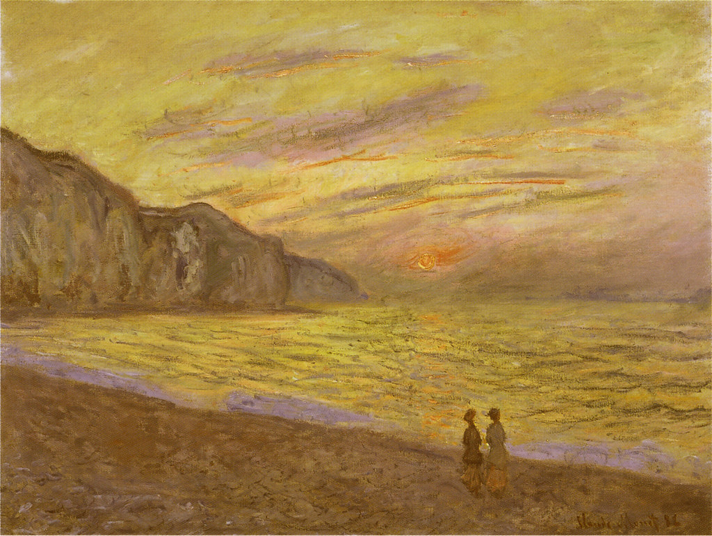 W 781 - Claude Monet: Coucher de soleil à Pourville (1882)… | Flickr
