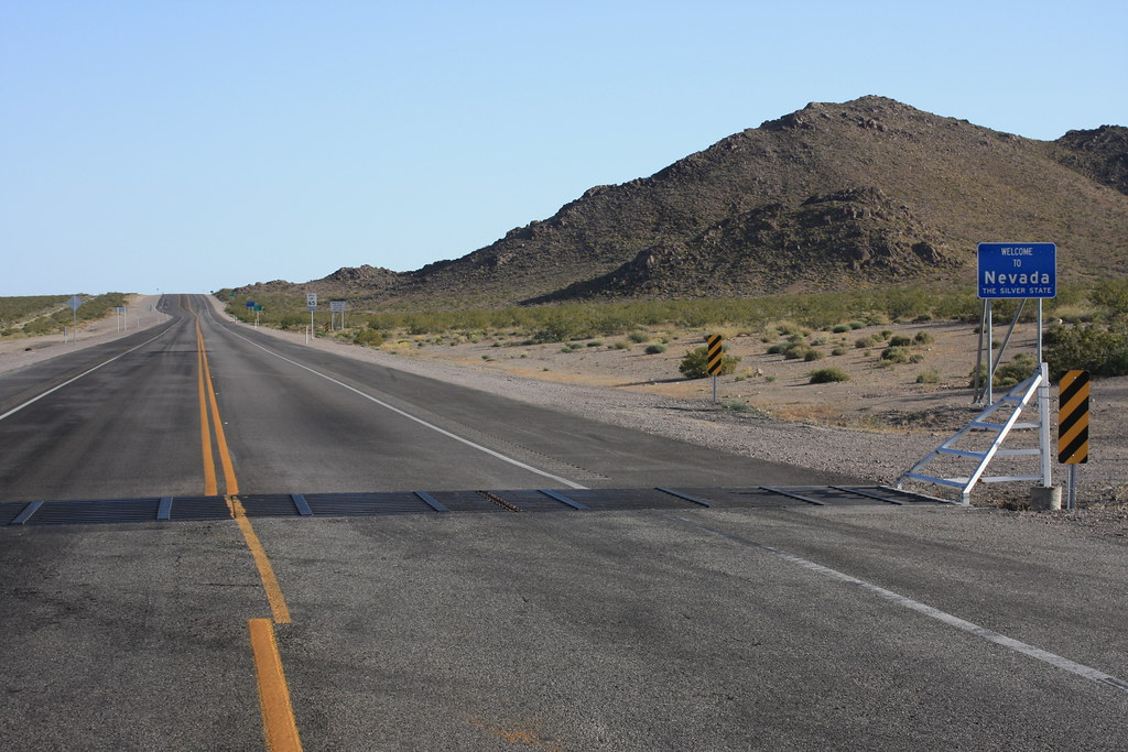US Highway 95 at the NevadaCalifornia border