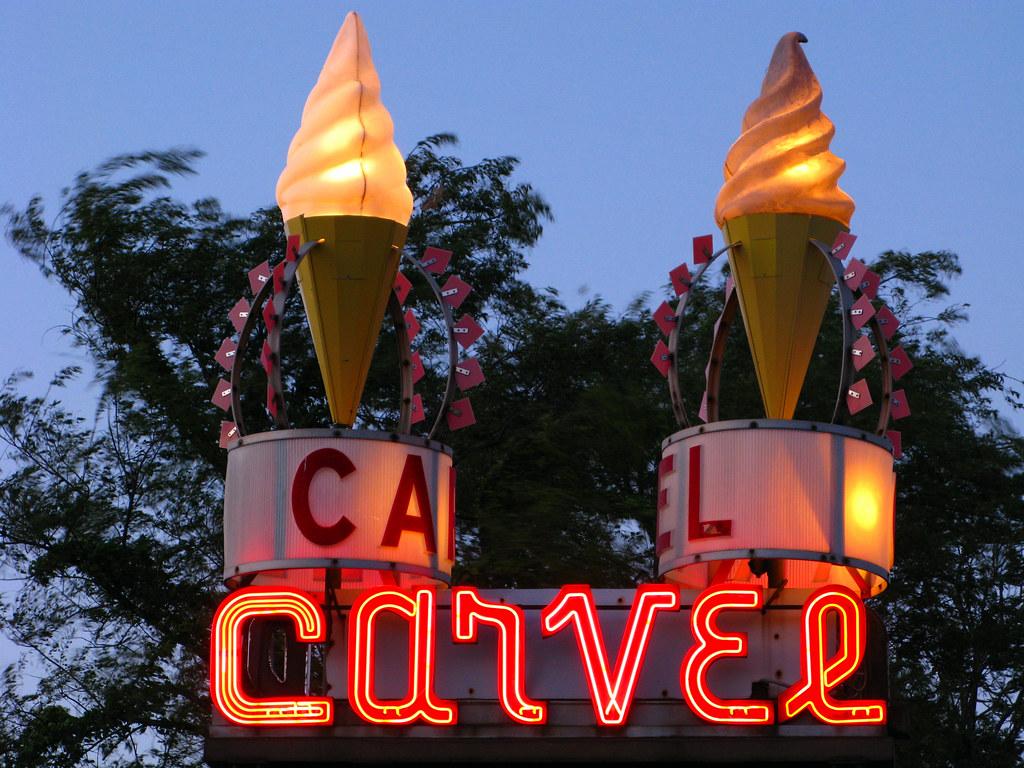 Carvel Ice Cream An Original Carvel Ice Cream Shop Neon