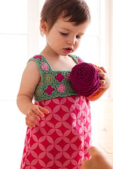 Strawberry Patch Party Frock from Little Crochet | by lindamade