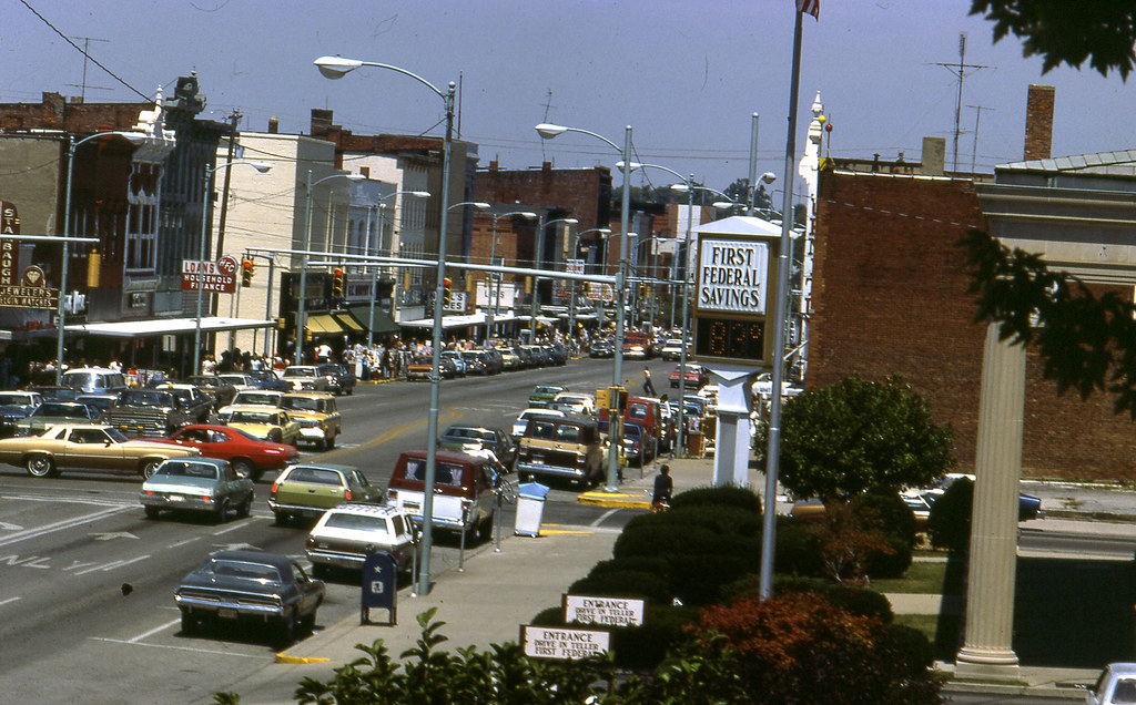Downtown Defiance Oh C July 1977 Downtown Defiance