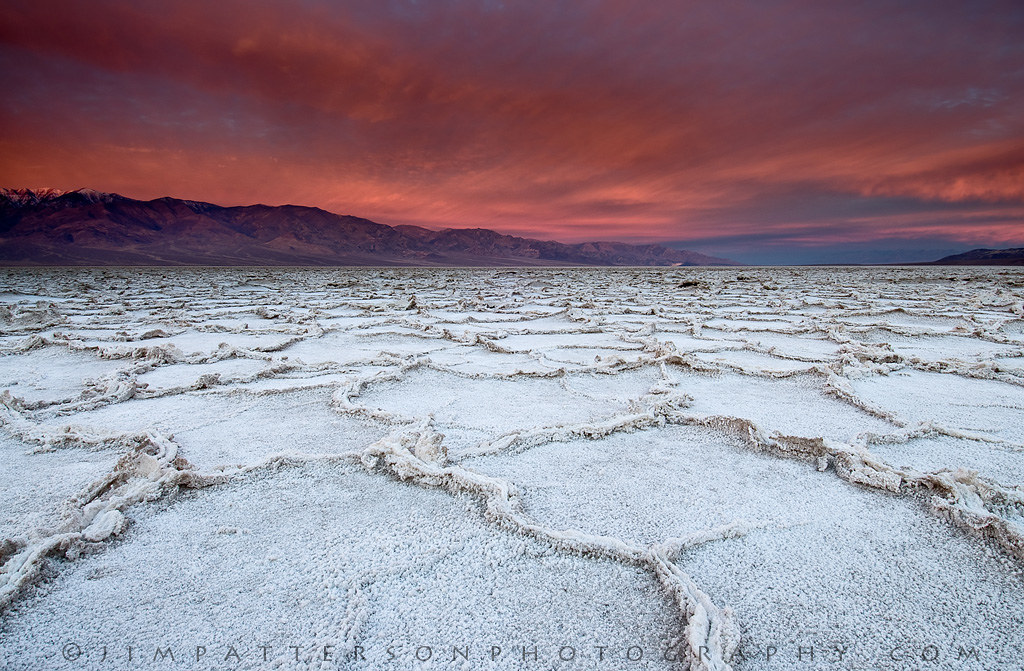 Badwater Burning Death Valley National Park California