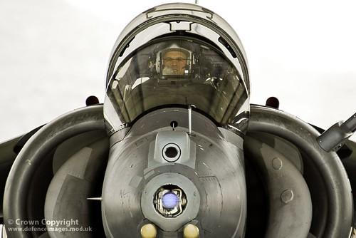 RAF Harrier and Pilot at Kandahar, Afghanistan