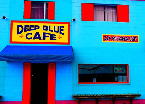 Deep Blue Cafe #dailyshoot #facebook #iphone6s #Adelaide | by Leshaines123