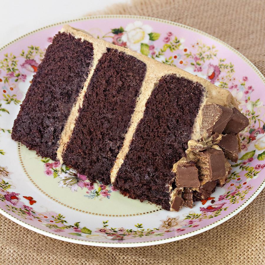 receta de tarta de café y chocolate