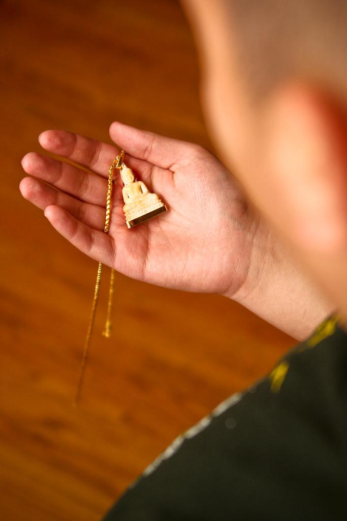 Khmer buddha necklace