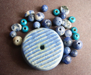 Monochromatic Blue  Clay Bead and beads set | by artisanclay