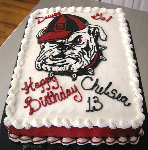 Georgia Bulldogs Cake Yep The Quot G Quot Is Backwards On His