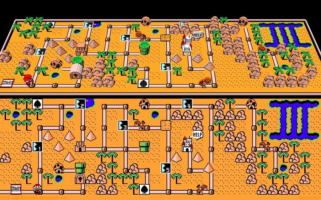Super Mario Bros World Mapa Super Mario Bros 3 World