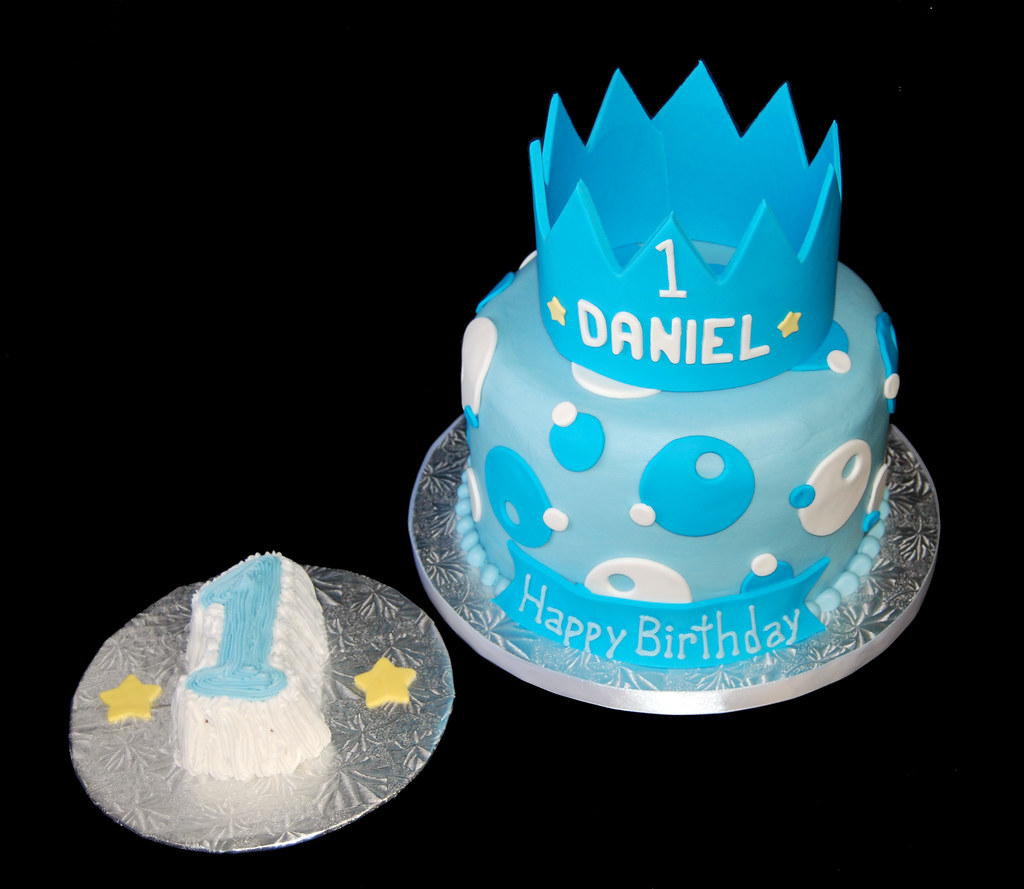 1st birthday crown prince themed cake and smash cake Flickr