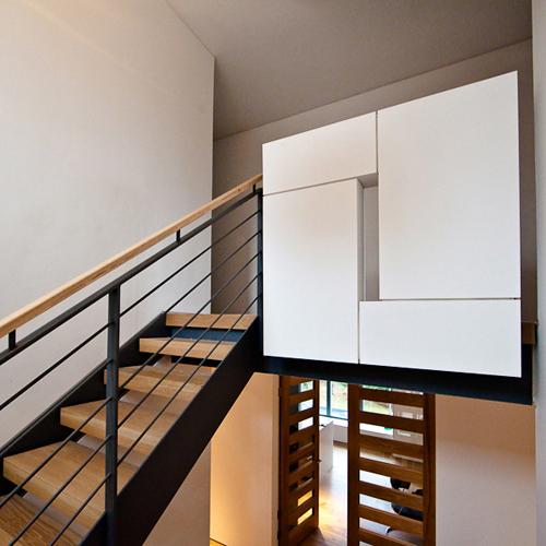 Staircase lethington road whitecraigs glasgow architec for Interior design glasgow
