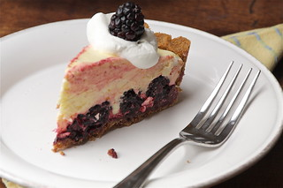 Meyer Lemon and Blackberry Chiffon Pie | by peaflockster