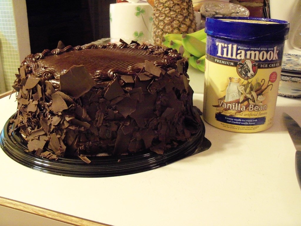 Birthday Cake This Is A Triple Chocolate Cake From