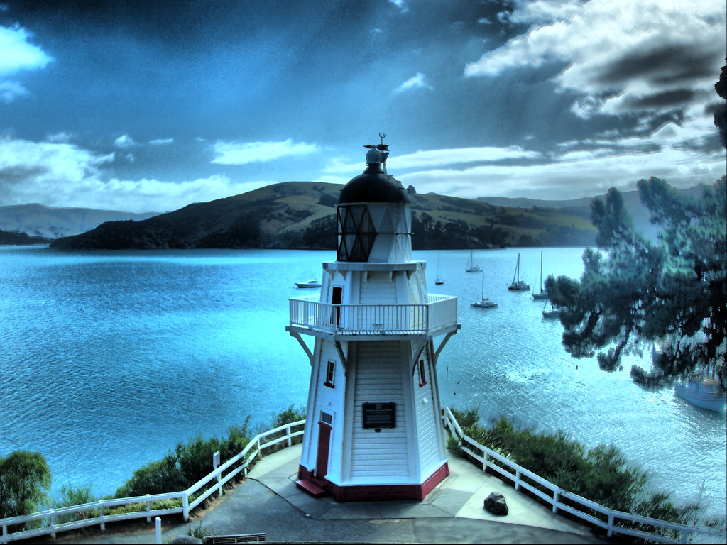 Akaroa. Península Banks. Nueva Zelanda